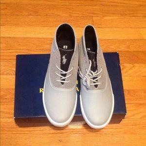 Polo Ralph Lauren mesh sneaker, grey sz: 13D